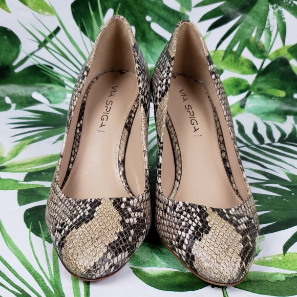 Via Spiga Shoes - Via Spiga pamina snakeskin wedges 7M
